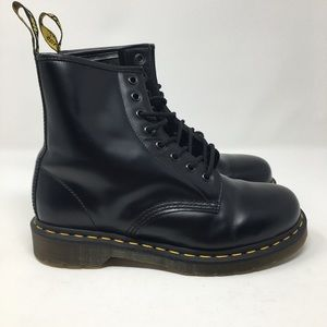Dr Martens 1460 Boots Black Leather smooth 8w